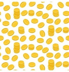 Gold dollar coin falling seamless pattern vector image