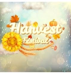 Harvest Festival Poster EPS 10 vector image