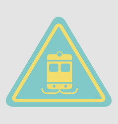 Tram traffic sign vector