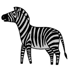 Black and white zebra vector