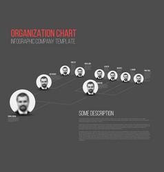 Minimalist hierarchy 3d chart vector