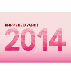 Pink shade new year 2014 vector