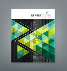 Cover report triangle geometry green for business vector