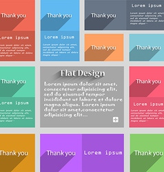 Thank you sign icon gratitude symbol circles and vector