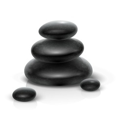 Spa stones black heap vector