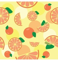 Seamless pattern with orange vector