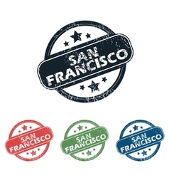 Round san francisco stamp set vector