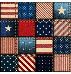 Patchwork of american flag vector