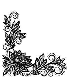 beautiful floral pattern a design element vector image