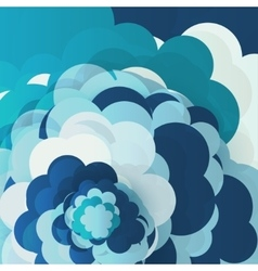 Blue sky clouds vector