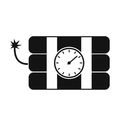 Bomb with clock timer icon vector