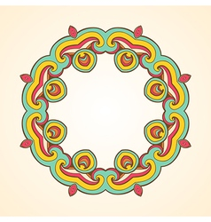 Abstract round ornament vector