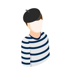 Mime isometric 3d icon vector