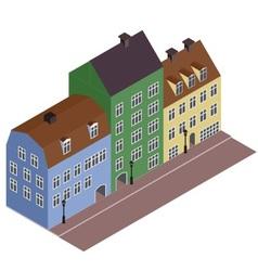 Isometric street vector