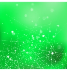 Green technology background with particles vector