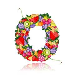 Fruit letter for your design vector image