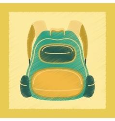 flat shading style icon school fashionable bag vector image