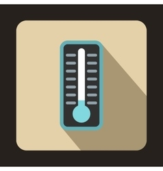 Cold thermometer icon flat style vector