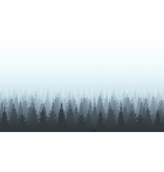 Coniferous forest silhouette template Woods vector image
