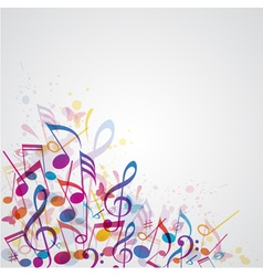 abstract note music vector image vector image