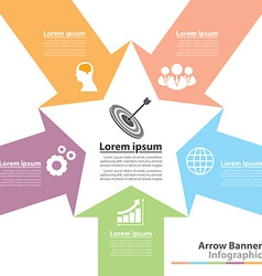 Arrow banner infographic vector image vector image