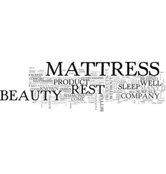 Beauty rest mattress text word cloud concept vector