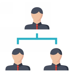 Business hierarchy concept vector