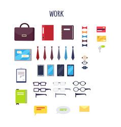 cartoon work equipment isolated set vector image
