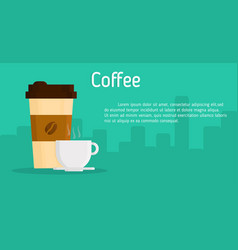coffee cup banner vector image