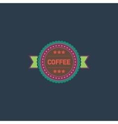 coffee label flat icon vector image vector image