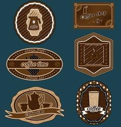 coffee stickers 01 vector image vector image