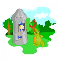 enamoured dragon vector image
