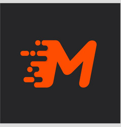 fast speed m logo vector image vector image