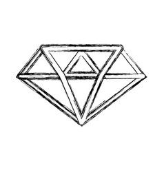 Figure luxury diamond cristal gem vector