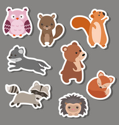 Forest animal stickers forest animal stickers vector