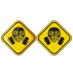 gas mask hazardous sign vector image vector image