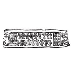 Hair pin vintage engraving vector