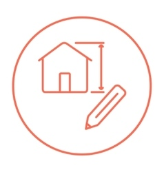 House design line icon vector image vector image