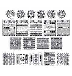 native american art collection vector image