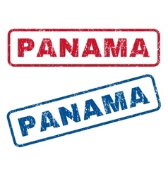 Panama rubber stamps vector