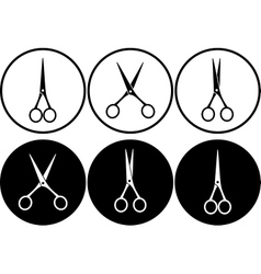 scissors in frame vector image vector image
