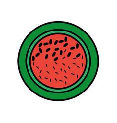 slice watermelon fruit tasty vector image