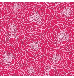 Vibrant red lace flowers seamless pattern vector image