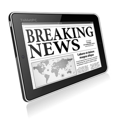 Concept - Digital Breaking News vector image