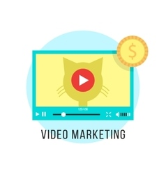 Video marketing and income from popular content vector