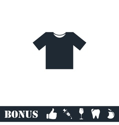 Tshirt icon flat vector