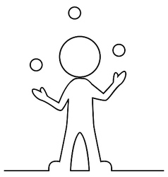 Simple man juggling with balls vector