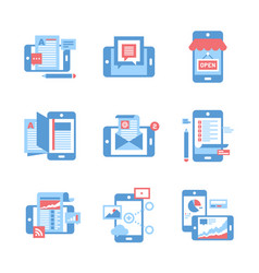 Mobile applications concept vector