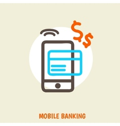 Colored concept for mobile banking and online vector