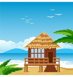 Lodge on beach vector